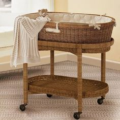 Vintage To Modern Baby Bassinets And Moses Baskets: Includes Pottery Barn Kids…