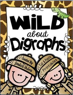 It's time to get WILD about digraphs! This FREE little mini-packet of activities focuses on SH, TH, CH, and WH. There are multiple activities! First Grade Phonics, First Grade Activities, Word Work Activities, Teaching First Grade, Teaching Phonics, First Grade Reading, Phonics Activities, Kindergarten Literacy, Teaching Reading