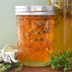 How To Make Herb-Infused Honey — Really easy!. Rosemary, sage, thyme, mint, lemon balm, lavender, chamomile, rose petals, and pine needles all make lovely infused honeys. You can also use spices like vanilla beans, cinnamon sticks, and star anise. Herbs should be dry.