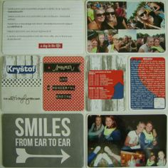 Můj papírový relax: Project life 7 - right page Project Life, Projects, Log Projects, Blue Prints