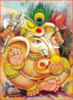 Information about Lord Ganesha Clay Ganesha, Ganesha Art, Shiva Art, Hindu Art, Indian Gods, Indian Art, Ganesha Sketch, Shri Ganesh Images, Om Gam Ganapataye Namaha