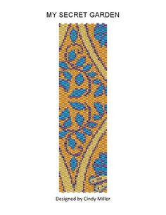 My Secret Garden Peyote Bracelet Pattern ((Buy 2 Patterns Get 1 Free))