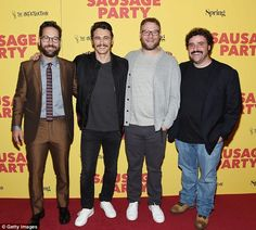 Sausage Party: Seth Rogen,James Franco, Paul Rudd and David Krumholtz all turned out for a fairly male-centric NY premiere of their latest animated adventure on Thursday night