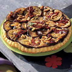 Recette de tarte tatin d'aubergines et de pignons