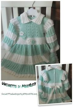 Girls dress crocheted