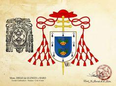 Mons. Diego de Guzmán y Haro - Coat of arms #vabldesign #design #ecclesiastical #heraldry #coatofarms #shield #cardinal #patriarcaindiasoccidentales #patriarchwestindies #arzobispotiro #archbishoptiro #arzobisposevilla #archbishopsevilla