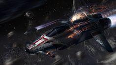concept ships: Star Citizen art by Elijah McNeal Concept Art Bonetech3D SteamPunk Fashion Sci-Fi