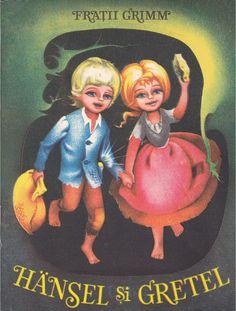 Hansel and Gretel, Grimm, Illustrations Adriana Mihailescu, 1989 Vintage Book Covers, Grimm, Book Illustration, My Childhood, Paper Dolls, Card Games, Illustrators, Children, Kids