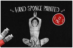 Sponge Painted Yoga by Kaazuclip on @creativemarket