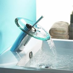 Single Handle Centerset Waterfall Bathroom Sink Faucet  Choose Your Right Waterfall Faucets For Bathroom Sinks Check more at http://www.showerremodels.org/330/choose-your-right-waterfall-faucets-for-bathroom-sinks.html