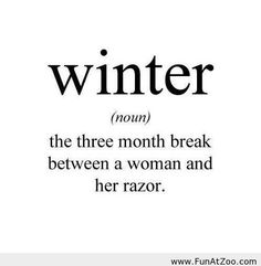 Funny Winter definition - Funny Picture