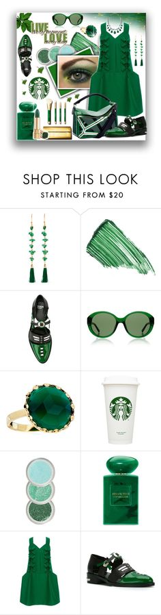 """""""#168 :Green"""" by cresentia-titi ❤ liked on Polyvore featuring Rosantica, By Terry, Toga, The Row, Lana, Giorgio Armani, Delpozo and GREEN"""