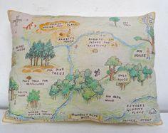 Winnie the Pooh pillow. Hundred Acre Wood. Winnie the Pooh nursery. Classic vintage pooh.