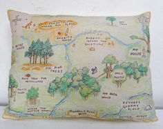 Winnie the Pooh pillow. Hundred Acre Wood. Winnie the Pooh nursery. Classic vintage pooh.