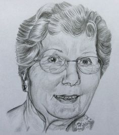 Pencil portrait of my Mom