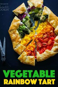 Vegetable Rainbow Tart: Give your veggie side dish a colorful boost. With puff pastry and a ricotta cheese base, this is as tasty as it is colorful. Vegetarian Recipes Dinner, Delicious Dinner Recipes, Yummy Appetizers, Appetizer Recipes, Vegan Recipes, Yummy Food, Roast Recipes, Grilling Recipes, Vegetable Side Dishes