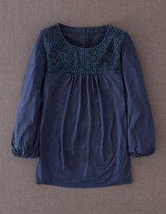 Broderie Jersey Top - my favorite shirt - good details