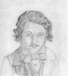 William Morris , Self Portrait,1856