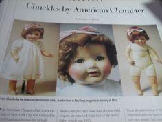 1pg American Character CHUCKLES Doll Article / Ursula Mertz b1