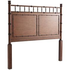 "<div class=""hide-on-sets""> Our Hayden Headboard has all the hallmarks of English Colonial style, including simple lines, turned bamboo accents, raised molding and a rich tobacco stain that highlights the natural poplar grain. Alone or matched with the complete Hayden Collection, this piece adds a hint of global chic that's both exotic and utterly timeless.  </div>"