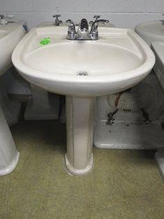 Double Basin Pedestal Sink Build It Green Nyc 383 Bathroom Pinterest Pedestal Sink And