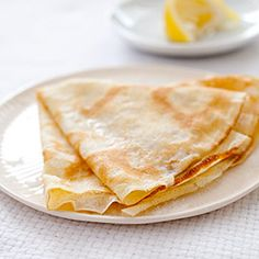 Crepes with lemon, sugar and butter. the buttery crepes melt in your mouth, while the sugar and lemon wake up your taste buds, truly yummilicious! Crepes with Sugar and Lemon Recipe - America's Test Kitchen Oreo Brownies, Crêpe Recipe, Recipe Photo, Americas Test Kitchen, Toasted Almonds, Lemon Recipes, No Bake Desserts, Dessert Recipes, French Desserts