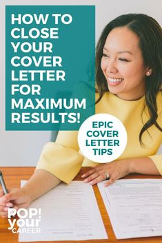 Close your cover letter effectively for maximum results - Pop Your Career Cover Letter Layout, Best Cover Letter, Cover Letter Tips, Writing A Cover Letter, Cover Letters, Administrative Assistant Cover Letter, Professional Cover Letter, Application Cover Letter, Job Search