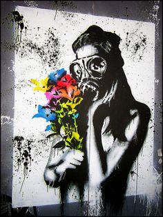 Gas Mask Graffiti- love it