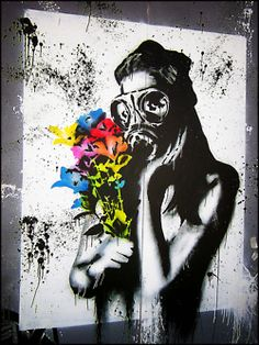 Gas Mask Graffiti- love it
