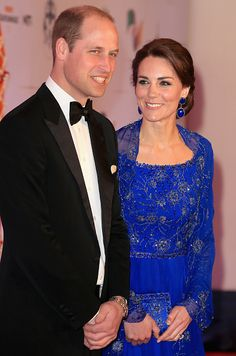 Catherine, Duchess of Cambridge and Prince William, Duke of Cambridge arrive for a Bollywood Inspired Charity Gala at the Taj Mahal Palace Hotel during the royal visit to India and Bhutan on April 10, 2016 in Mumbai, India.