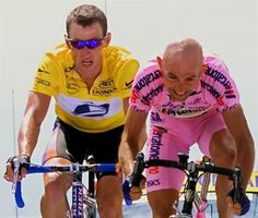 Tour 2000.Pantani et Armstrong.Mont Ventoux.