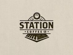 Station Coffee Co - Logo Design - Logomark, Locomotive, Train, Bull-bar, Dark Brown