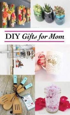 Gift Wrapping Ideas : Creative Homemade gift ideas for Mom. 12 thoughtful and meaningful DIY gifts for mom she will treasure and that are easy and quick to make. Some are great for last minute ideas for Mom's birthday or Mother's Day. Creative Homemade Gifts, Diy Gifts For Mom, Diy Mothers Day Gifts, Easy Diy Gifts, Diy Crafts For Gifts, Handmade Gifts, Cheap Gifts, Kids Crafts, Crafts For Teens
