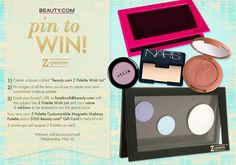 Pin to WIN! Enter to win your very own customizeable Z Palette and Beauty.com Gift Card by following the instructions above! Repin to share and good luck! We'll be selecting 1 grand prize winner and 5 runner-up winners on Wednesday, May 29.