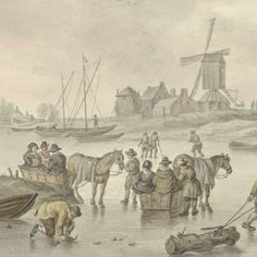 IJsvermaak, Abraham Delfos, Jan van Goyen, 1741 - 1820 - Winter-Collected Works of Joop Langeveld - All Rijksstudio's - Rijksstudio - Rijksmuseum