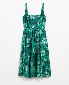 Image 8 of PRINTED DRESS WITH WIDE STRAPS from Zara