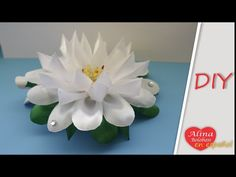 Como hacer flores en cintas de organza - DIY How to make flowers in organza ribbons - YouTube