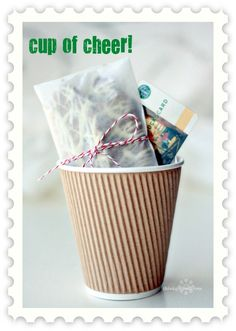 Cute way to package a neighbor, teacher, or other miscellaneous gift you need during the holidays.