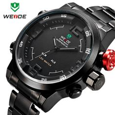 Find More Wristwatches Information about Relogios Masculinos WEIDE Men's Casual Military Watch 3ATM LED Digital Analog Sport Watches Clock Men Quartz Wristwatches Montre,High Quality Wristwatches from Little Sunny home on Aliexpress.com