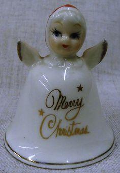 Treasure Masters Fine Bone China Merry Christmas Snow Angel Bell | Gertie's Gems