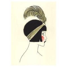 Art Deco art print SALE set X 5 - SALE SET of flapper drawings (4 X 6 prints) via Etsy