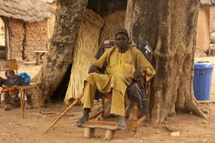 Burkina Faso - King of the Gan people photographed by Retlaw Snellac.  .