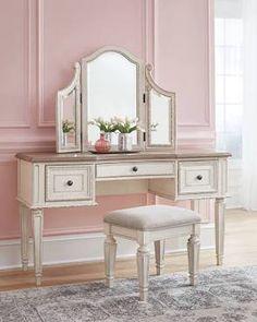 handcrafted bedroom vanity - Google Search Bedroom Vanity Set, Vanity Desk, Vanity Tables, Mirror Vanity, Shabby Chic Furniture, Bedroom Furniture, Bedroom Decor, Bedroom Retreat, Dream Bedroom