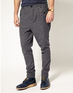 ASOS Wool Drop Crotch Trousers