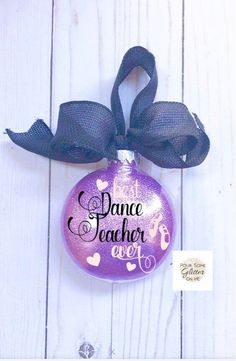 Excited to share this item from my shop: Dance Teacher Ornament/Gift for Dance Teacher/Dance Ornament/Personalized Ornament/Recital Gift/Dance Gift/Teacher Christmas Ornament Gift Diy Dance Gifts, Dance Teacher Gifts, Teacher Christmas Gifts, Teacher Appreciation Gifts, Dance Teacher Quotes, Dance Crafts, Teacher Ornaments, Family Christmas Ornaments, Christmas Dance