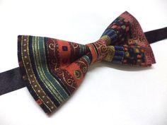 Tribal mens bow tie