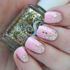 Nails Pink Gold Eyeliner For 2019 Pedicure Colors, French Pedicure, Pedicure Designs, Pedicure Nail Art, Nail Art Designs, Pedicure Ideas, Pink Pedicure, Nail Ideas, Pink Gold Nails