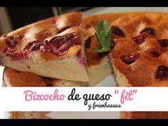 """BIZCOCHO """"FIT"""" DE QUESO Y FRAMBUESAS (Bizcocho de queso Fitness) VIDEORECETA - YouTube"""