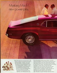 1969 Ford Mustang fastback Mach I advertisement