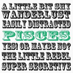 Pisces. Yes! Or maybe no?
